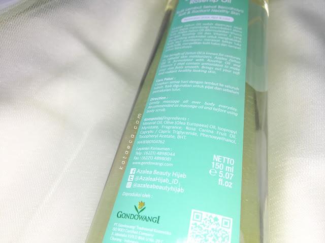 ingredients azalea zaitun oil