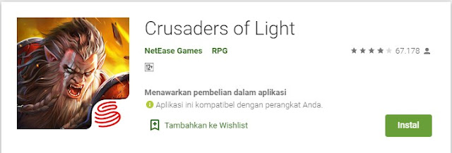 Game MMORPG Crusaders of Light