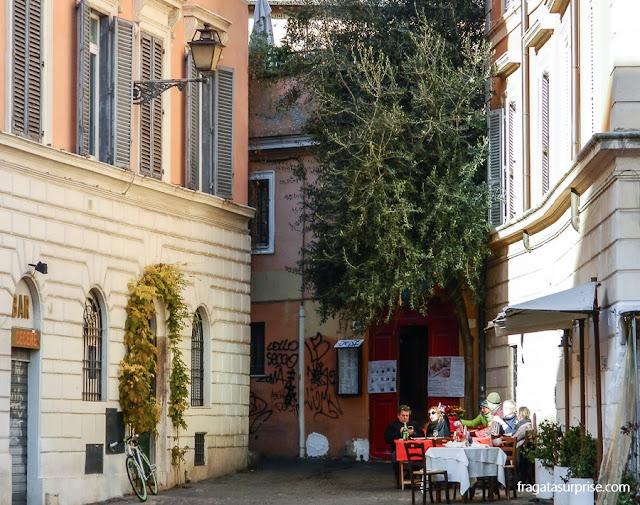 Restaurante no Trastevere, Roma