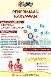 Lowongan Kerja Terbaru di Roma Rajeh Bebek Kacong Surabaya Mei 2019