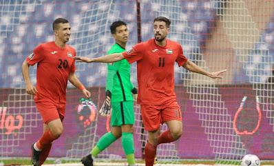 ملخص اهداف مباراة فلسطين وسنغافورة (4-0) تصفيات كاس العالم