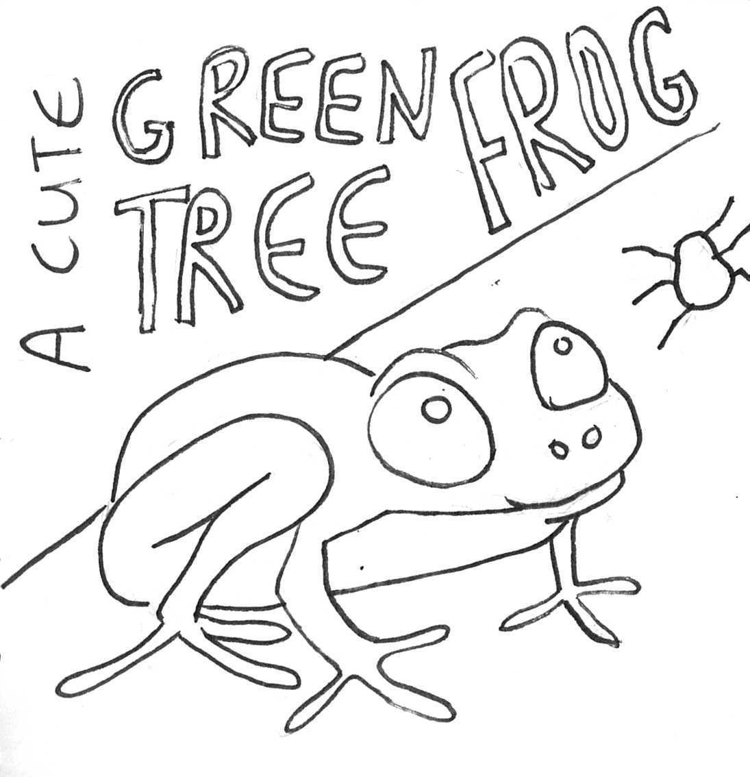 rainforest tree frog coloring page cute frog coloring pages
