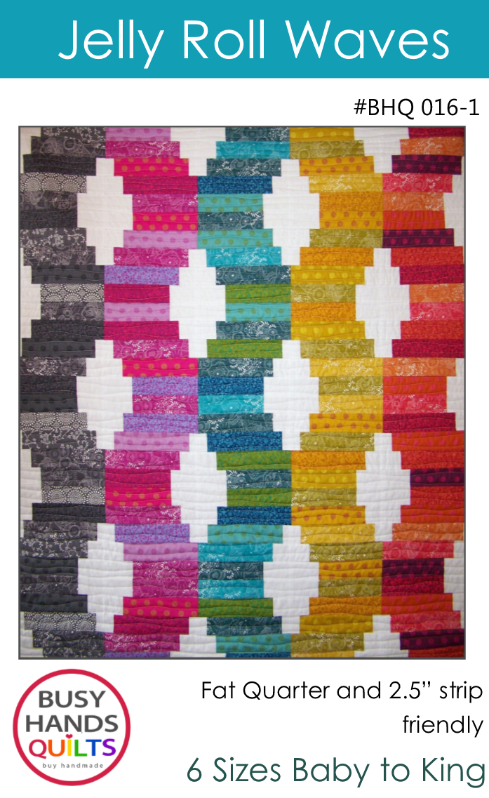 Jelly Roll Waves Quilt Pattern by Myra Barnes
