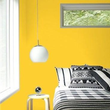 Kamar Tidur Warna Kuning