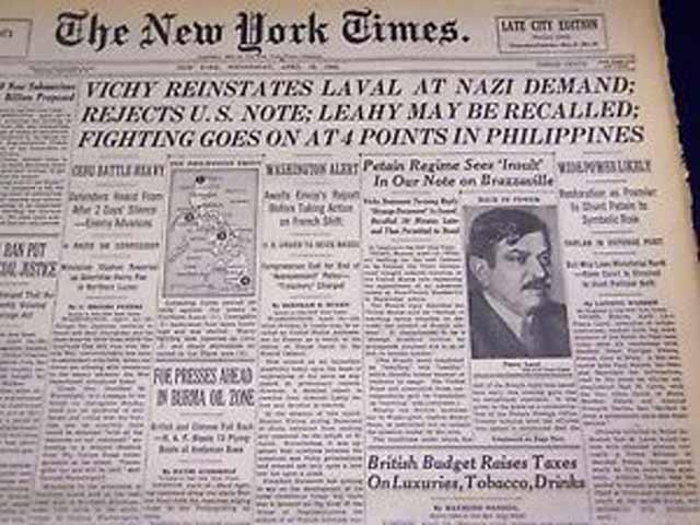 New York Times, 15 April 1942 worldwartwo.filminspector.com