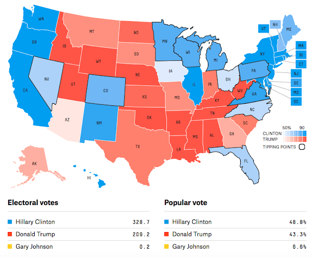 jobsanger: The Latest Electoral College Map From Nate Silver