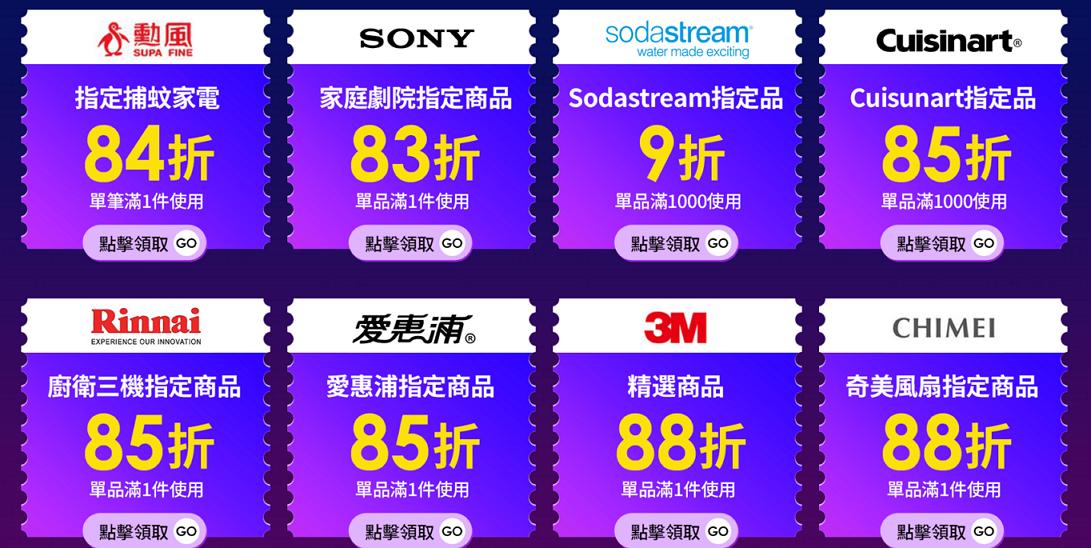 【momo購物網】品牌神券,最高83折優惠