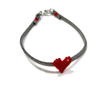 Seed Bead Heart
