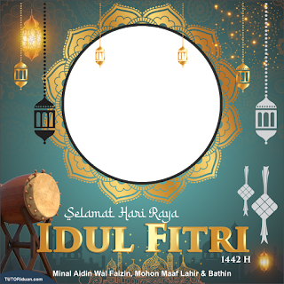 Twibbon Idul Fitri 1442 PNG