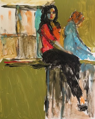 loose painting bright colorful women abstract