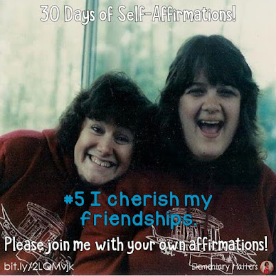 "30 Days of Self-Affirmations: Day 5: I cherish my friendships! For 30 days, I will be celebrating my own ""new year"" with self-affirmations. If you are interested in joining me, feel free to  write your own affirmations here, or respond on my social media here: http://bit.ly/2LQMvjk"