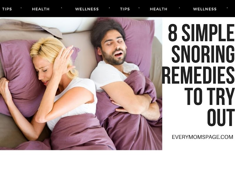 8 Simple Snoring Remedies to Try Out