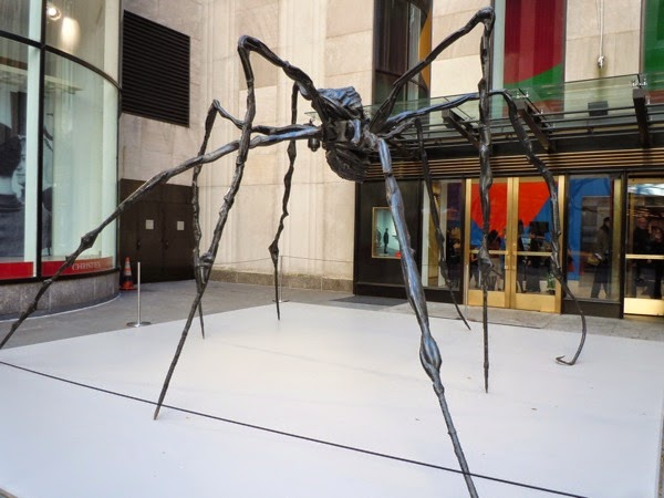 Spider sculpture Louise Bourgeois New York