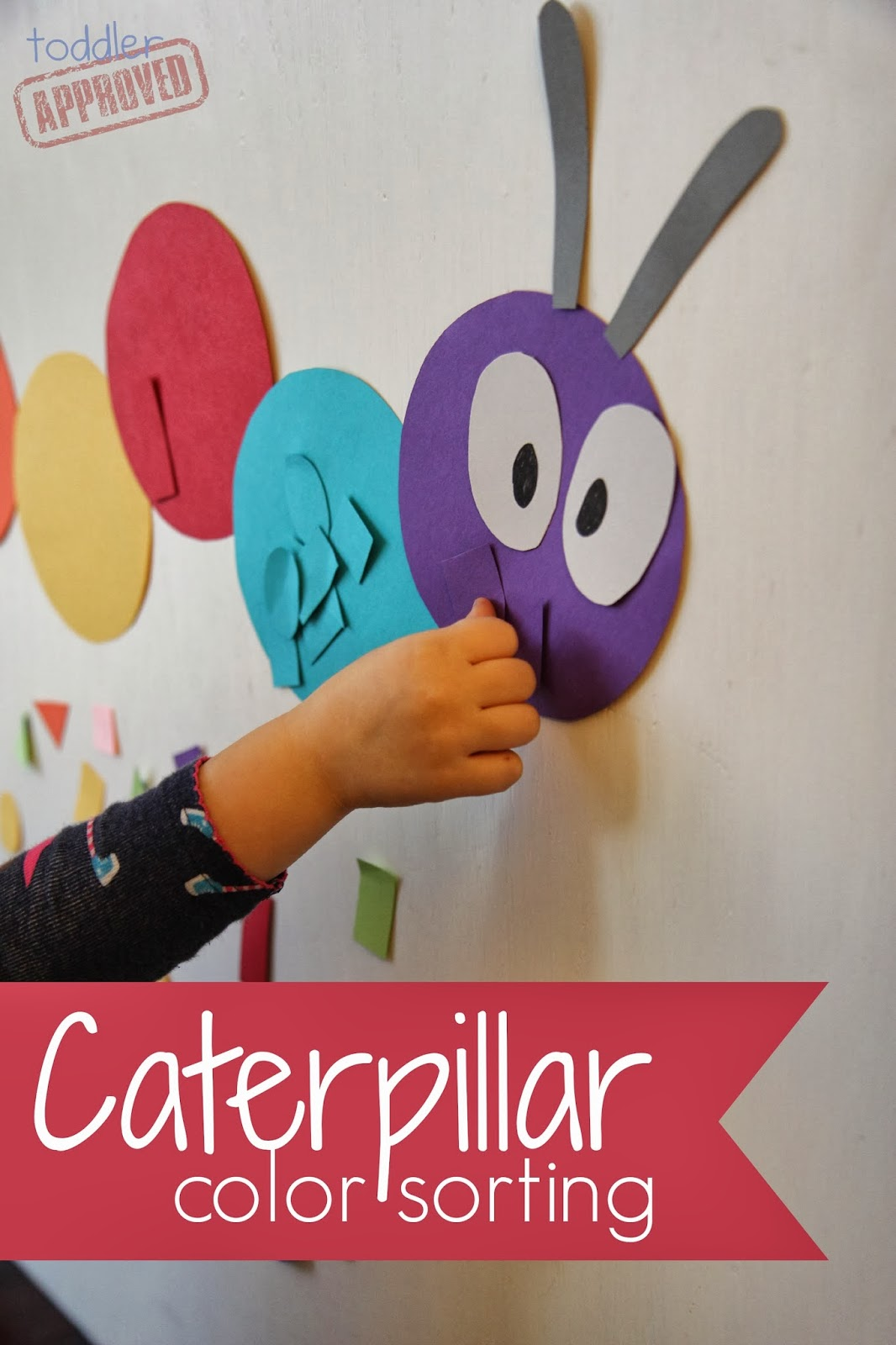 Toddler Approved Caterpillar Color Sorting