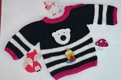 5 - Crochet Imagen Jersey marinero a crochet y ganchillo lindo facil sencillo por Majovel Crochet