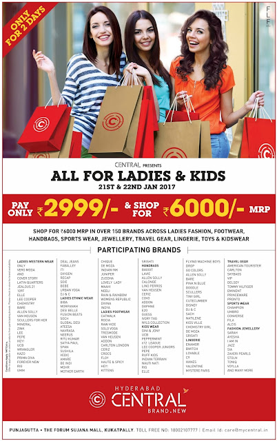 January 2017 discount offer | Central ladies and kids shopping offers