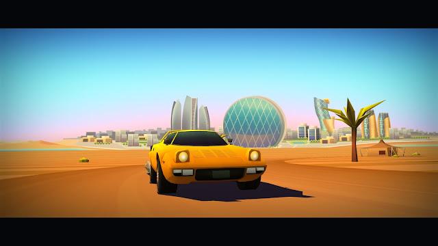 Screenshot of Abu Dhabi from Horizon Chase Turbo