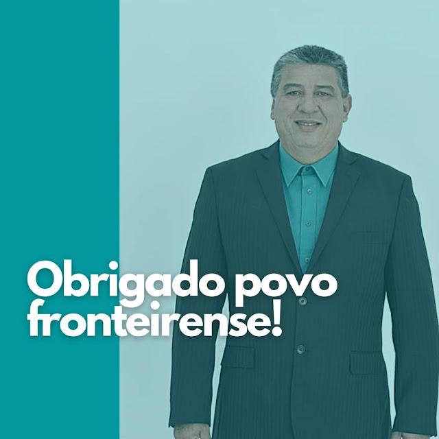 DR JURACI BEZERRA EMITE MENSAGEM DE AGRADECIMENTO AO POVO FRONTEIRENSE.