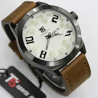 Jam Tangan Pria Original Tali kulit T5