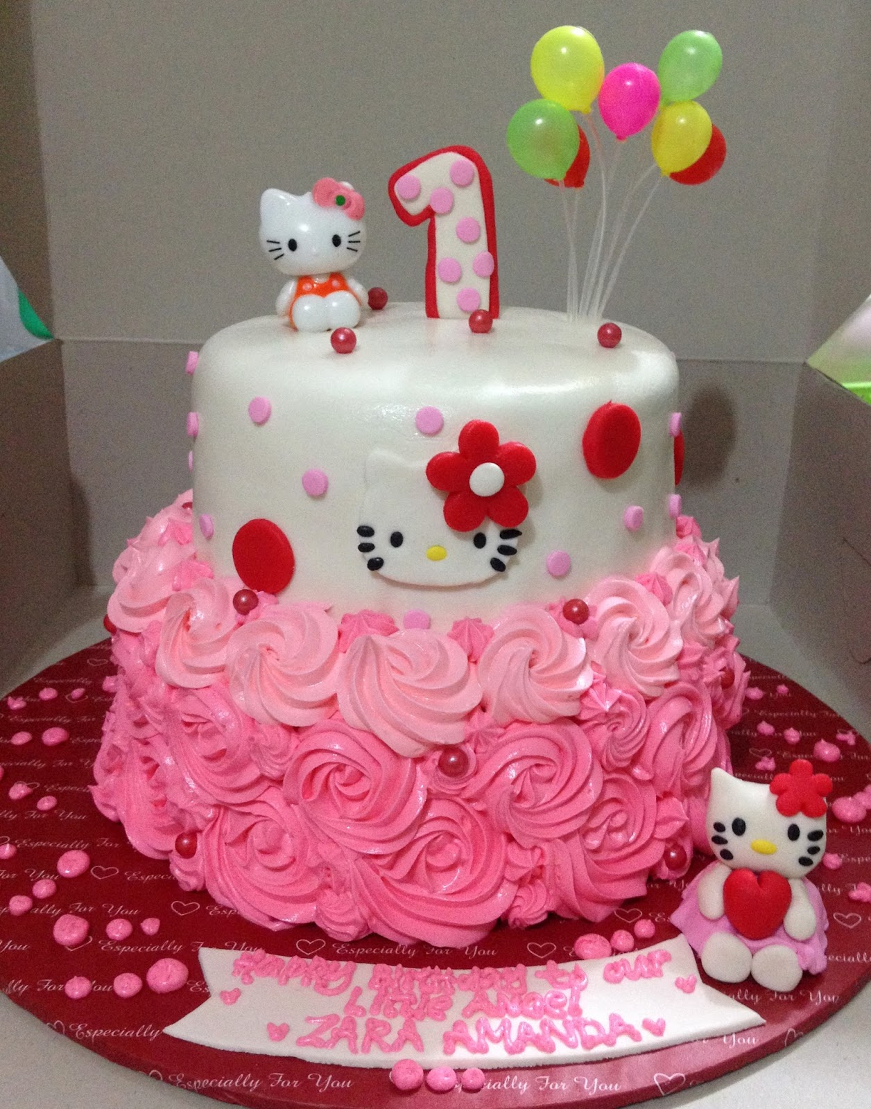 Amys Sweet Bite Hello Kitty theme cake 1st Birthday