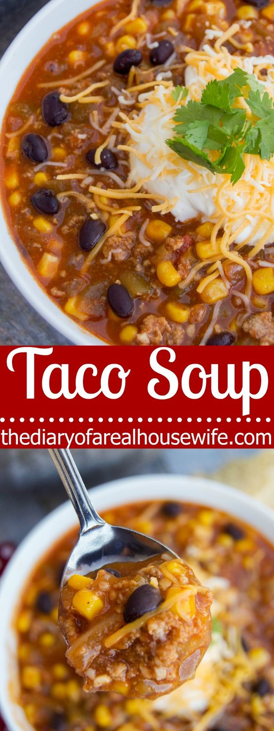 Taco Soup  #taco #tacorecipes #tacosoup #soup #souprecipes #easysouprecipes