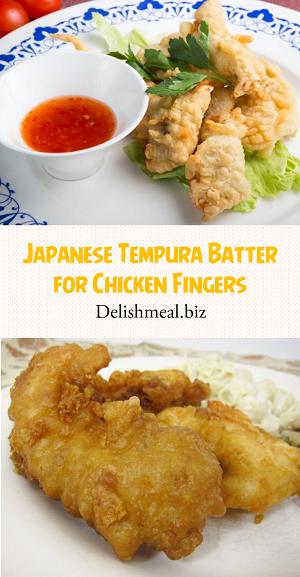Japanese Tempura Batter for Chicken Fingers