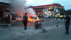 Kebakaran Di POM Bensin Warungkondang, Carry Hangus Dilumat Si Jago Merah