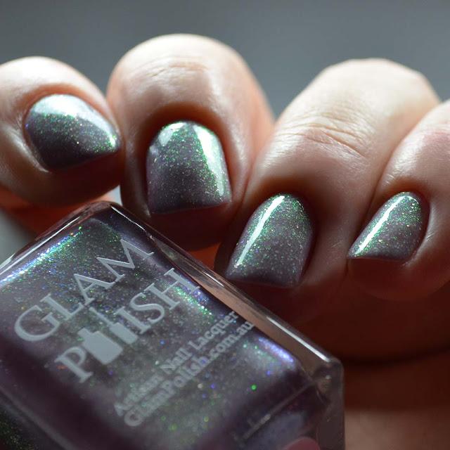 mauve shimmer nail polish