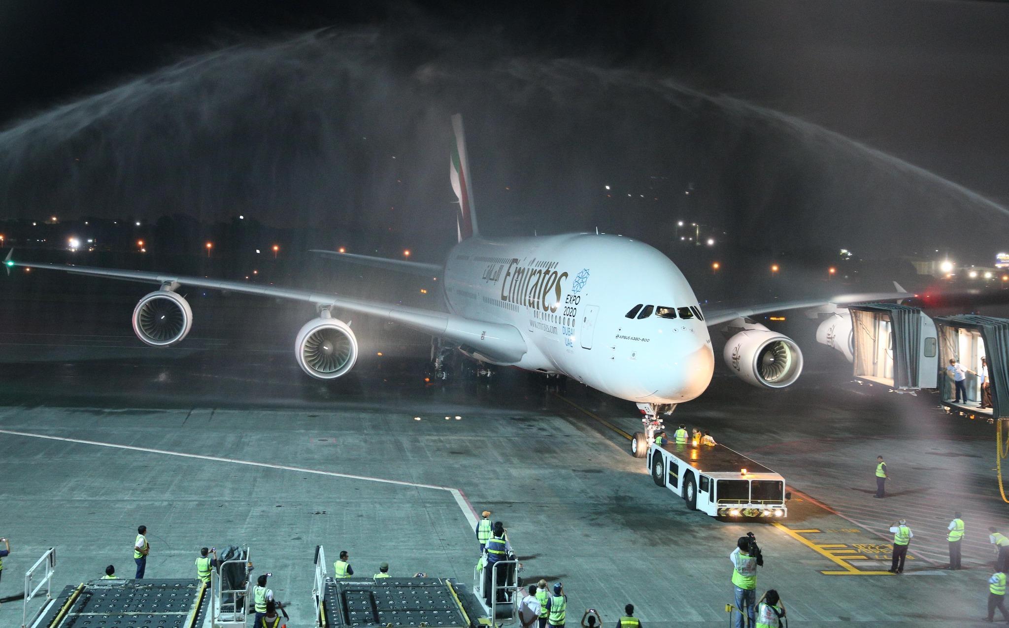 Airbus A380 of Emirates