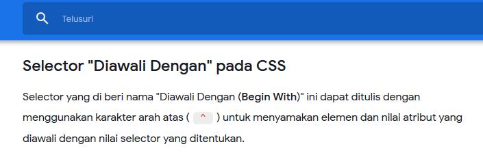Setelah menggunakan kode CSS diatas