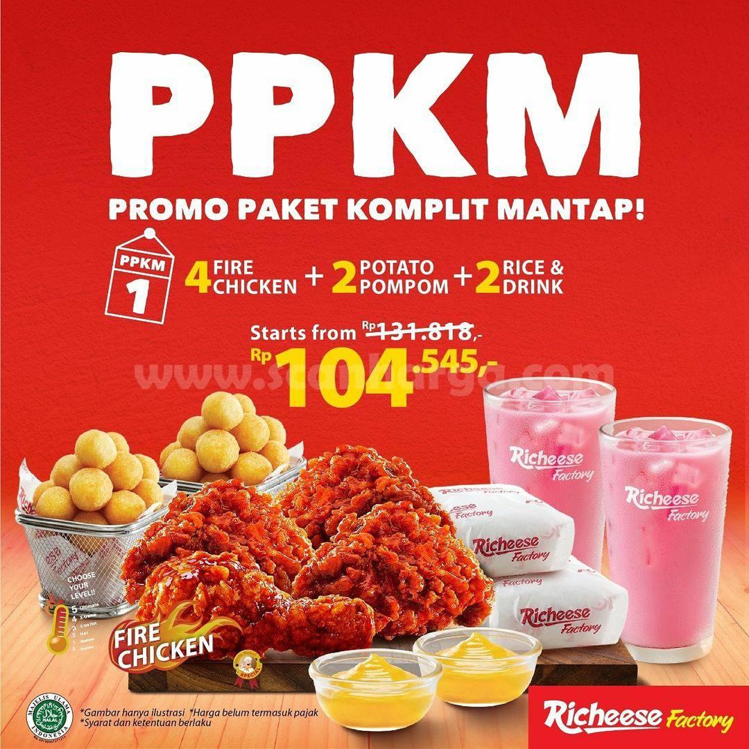 Richeese Factory PPKM (Promo Paket Komplit Mantap)