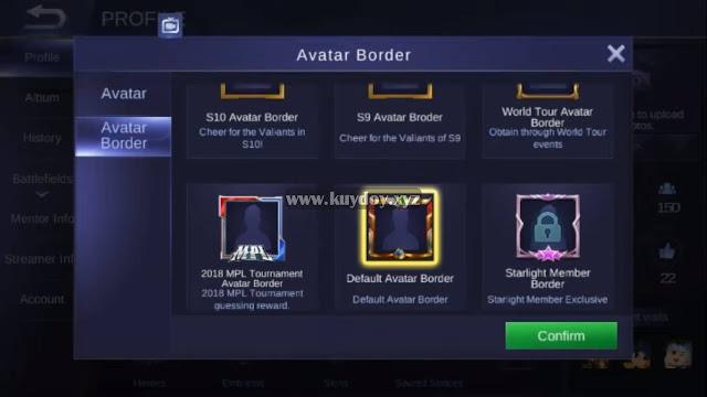 Banyak pemain mobile legends yang menginginkan akun profilnya terlihat keren Cara Mendapatkan Border Top Fan Avatar Gratis Permanen Dengan Script