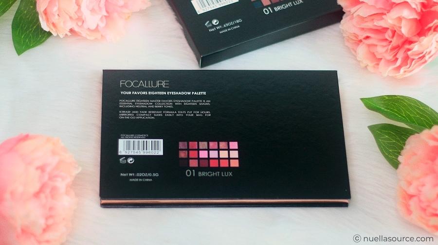 Avis palette focallure bright lux