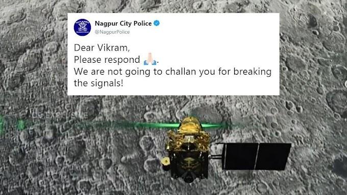 Nagpur police tweets to ISRO's Vikram Lander, winning hearts on twitter
