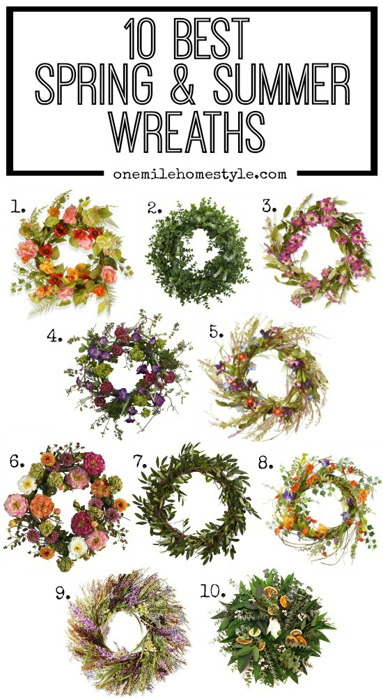 Dress your home for spring and summer with these 10 best bright and colorful wreaths