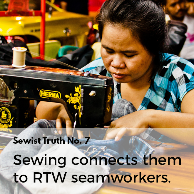 Secret No. 7: Sewing connects people who sew to ready to wear seamworkers.