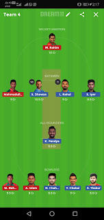 Ind va ban 2nd t20 match dream11 team best gl team