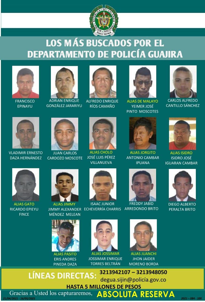 https://www.notasrosas.com/En La Guajira se publica el Cartel De Los Más Buscados