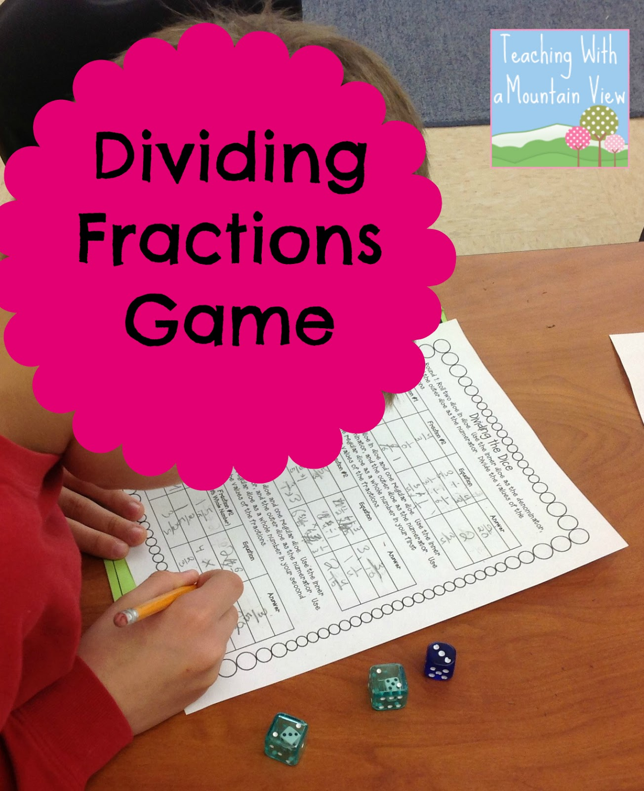 photograph about Dividing Fractions Games Printable identified as Coaching With a Mountain Opinion: Dividing Fractions Anchor