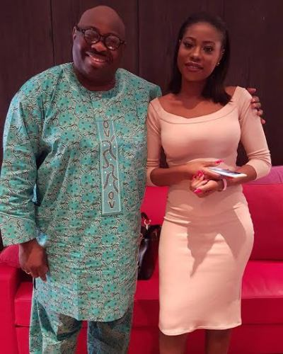 Ovation Publisher and one time presidential aspirant , Dele Momodu picture with Sophie Momodu davido baby mama