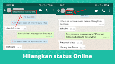 Cara Menghilangkan Status Online Di WhatsApp Terbaru