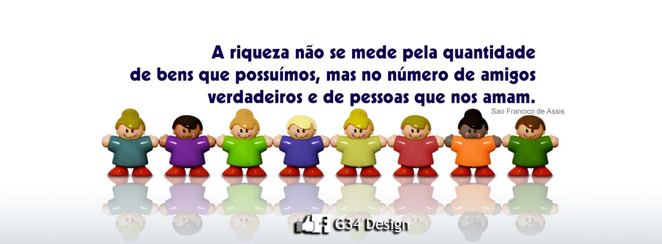 G34 Design Capa Para Facebook Frase De Reflexão São Francisco De