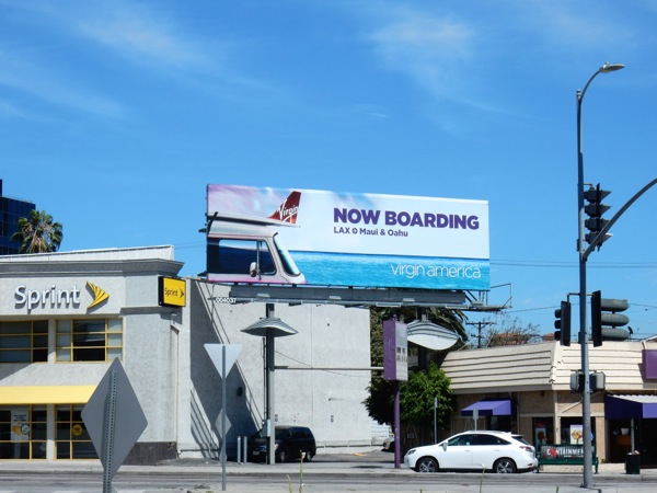 Now boarding Virgin America billboard