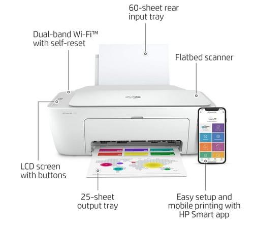 Hp DeskJet Series Wireless Color Inkjet Printer