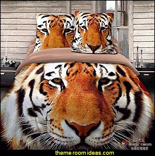 Eye Tiger Cotton Bedding  wild animal print bedroom decor  - leopard print decorating ideas- giraffe print - zebra print - cheetah bedroom decor - wild animal print decorating  - leopard print decor - leopard print walls -  tiger wall decal