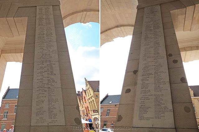Memorial for Indian soldiers Menin Gate Memorial, Ypres, Belgium