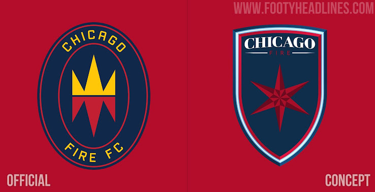 Chicago Fire Crest Redesign Concept By Ozando Footy Headlines