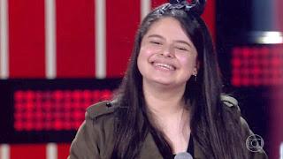 """Guarabirense Bel Moura se classifica no The Voice Kids cantando """"Anjo Querubim"""""""