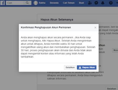 Cara Menghapus Akun Facebook Permanen Selamanya Terbaru