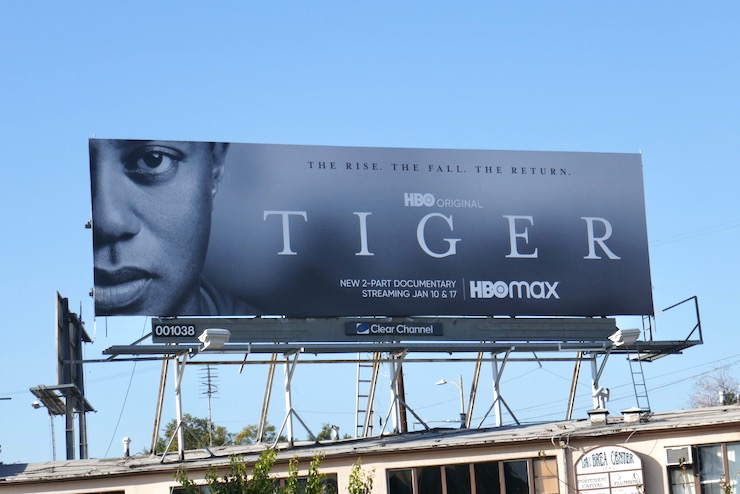 Tiger Woods documentary billboard